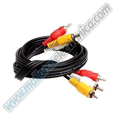 CONEXEION VIDEO + AUDIO 3/.RCA Macho - 3 /RCA Macho  30.00 Metros. OFC