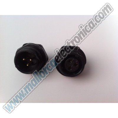 CONECTOR WATERPROOF IP-68  3pins  macho  chasis  250 V  13 A  RoHS