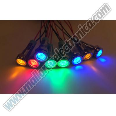 PILOTO METALICO LED 24 V <20ma VERDE 5,5 diametro