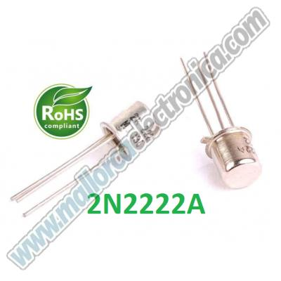 2-2222-A  METAL  NPN.UNI 75V 0.8A 0.5W>250MHZ B>100 TO-18   METAL