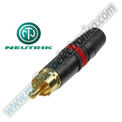 CONECTOR RCA  macho  metalico HQ  color  ROJO