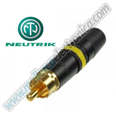 CONECTOR RCA  macho  metalico HQ  color  AMARILLO