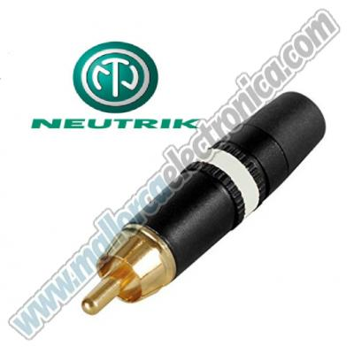 CONECTOR RCA  macho  metalico HQ  color  BLANCO