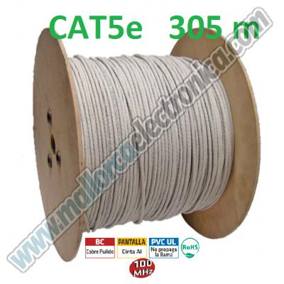 CABLE FTP CAT-6 23AWG Rigido Gigabit Ethernet 1000 Base TTIA/ETA568   250Mhz  LSZH  300 METROS
