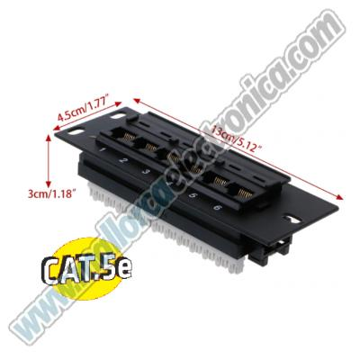 REGLETA RACK 6 PUERTOS MINI CAT-5e