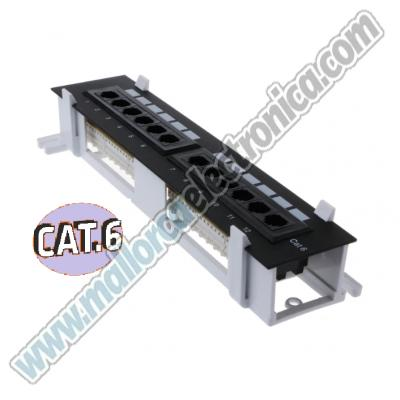 REGLETA RACK 12 PUERTOS MINI CAT-6