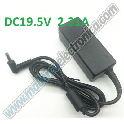 CARGADOR ESPECIFICO Tipo HP con Pin central PARA NOTEBOOK -DC 19,5V   2.31 A   AC-110/240V