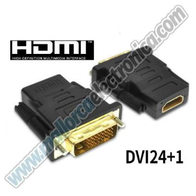 ADAPTADOR HDMI Hembra   &  DVI-D-  Macho  DIGITAL