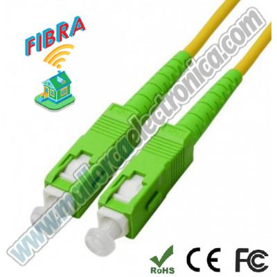 CONEXION  FIBRA OPTICA  SC/APC Simple Monomode  15 mtrs