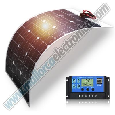 KIT PLACA SOLAR 50W DC12V CON REGULADOR DE CARGA