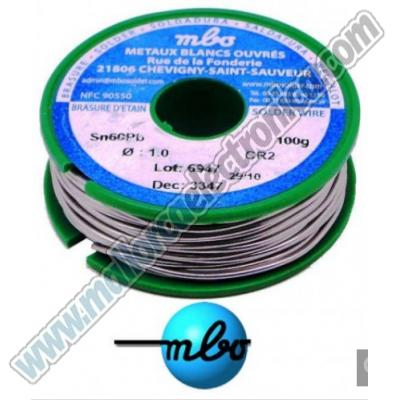 ESTAÑO MBO   sn/pb 60/40 CR2 10/10 41D 2V  1mm   ROLLO  100grs