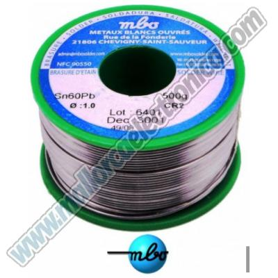 ESTAÑO MBO   sn/pb 60/40 CR2 10/10 41D 2V  1mm   ROLLO  500grs