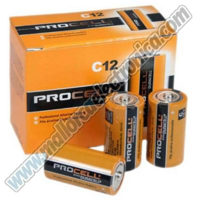 PILA  ALKALINA  DURACELL  R-14 / C      linea procell (caja 10uds)