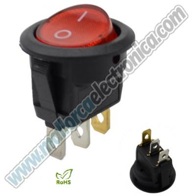 INTERRUPTOR  LUMINOSO  3p ON-OFF  6A 250 V; 10A 125 V