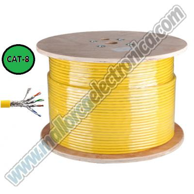 Cable S/FTP cat-8 40Gbps 2000MHz  22AWG 24AWG TIA568-C ISO/IEC TR 11801-9901