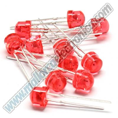 LED 5MM ROJO ALTA LUMINOSIDAD   10.000mlcd   2,9V  20ma