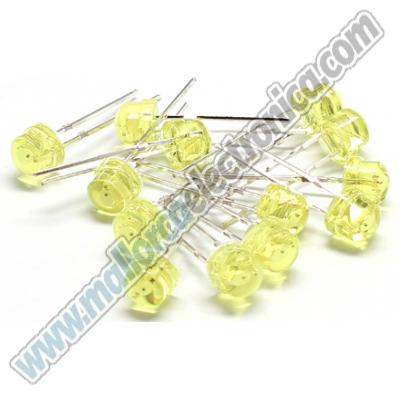 DIODO LED  5mm  AMARILLO  MUY ALTO  BRILLO  7.000mlcd   2,9V  20ma