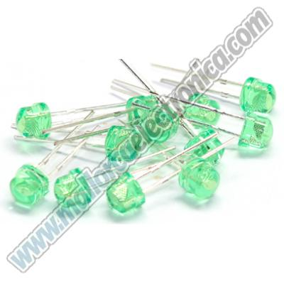 LED 5MM VERDE ALTA LUMINOSIDAD 10.000mlcd 2,9V 20ma