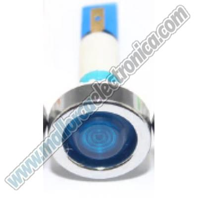 Piloto neon DC24v AZUL 8mm IP68