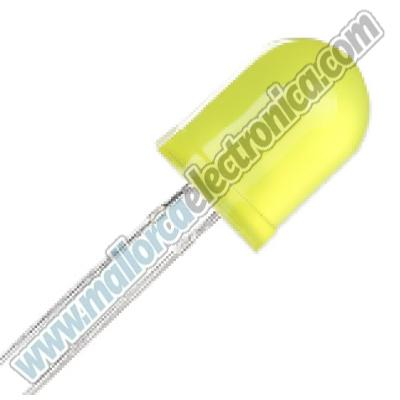 DIODO LED AMARILLO 10 mm 1.8 V- 2,2 V 20ma