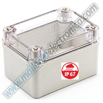 Caja Plastico ABS 110x80x70mm IP-67 TAPA TRANSPARENTE