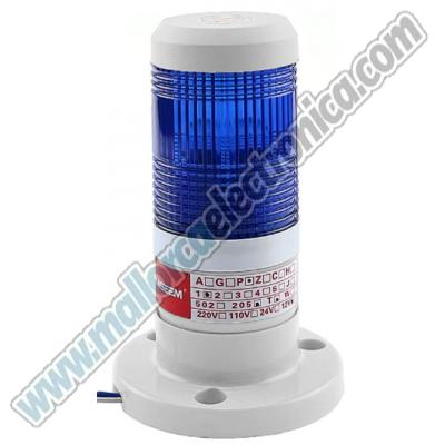 PILOTO LED INTERMITENTE COLOR AZUL DC 12V
