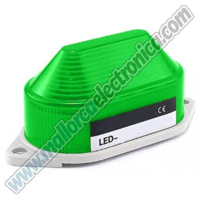 PILOTO LED STROBO COLOR VERDE DC 12V IP-44 MATERIAL ABS CE
