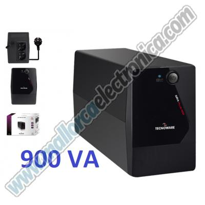 UPS ERA PLUS 900 VA. LINE INTERACTIVE PLUS TECHNOLOGY. DIMENSIONS 10X14X28 CM, WEIGHT 3,7 KG, AUTONOMY 10 MIN, 1 BATTERY 12VDC 5AH