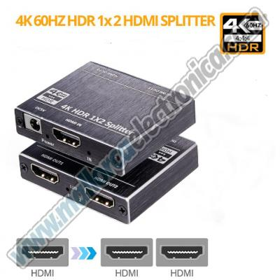 HDMI Splitter 1 in 2 Out 4K HDCP Supports 3D 4K@60HZ Full HD1080P