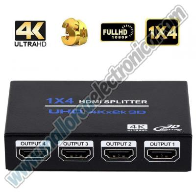 SPLITTER   Ultra HD 4 K  HDMI  1 entrada  4 salidas FULL HD 1080P